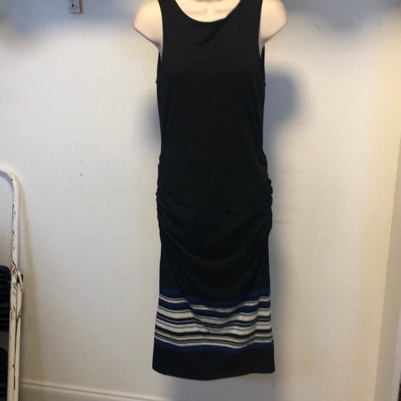 Athleta Dresses & Skirts - NWT Athleta black midi ruched tank dress
